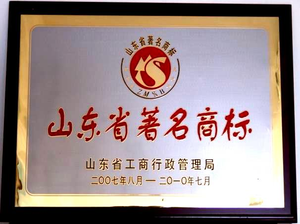 Famous brand of Shandong Province